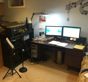 trumpet practice, media edit, recording, transcribing